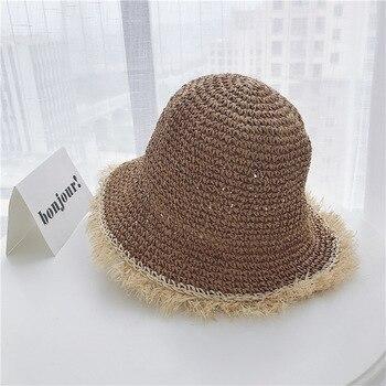 8d460b504d2a Женские соломенные шляпы китайская соломенная шляпа Panamas защита ...