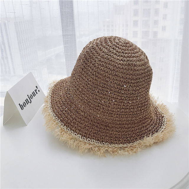 dec347721b6 Womens Straw Hats Chinese Straw Hat Panamas UV Protection Sun Visor Beach  Hats Women Visors Foldable