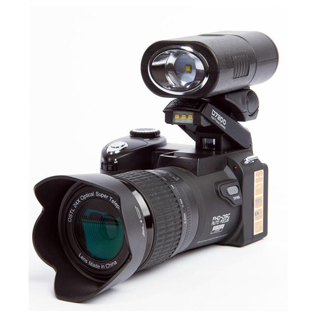 2017 HD Ordro POLO D7300 Digital Camera 33Million Pixel Auto Focus Professional SLR Video Camera 24X Optical Zoom 3 HD Lens