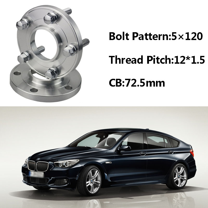 2pcs 5x120 72.5CB Centric Wheel Spacer Hubs M12*1.5 Bolts For BMW E60 E66 E84 E36 E46 E85 E89 E30 E81 E86 E87 E82 E52 E64