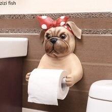 Мультяшный съемный тканевый чехол креативная собака в форме животного смоляная туба для бумажных полотенец сиденье 3D диспенсер для бумажных полотенец