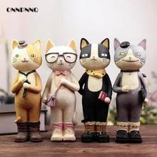 Creative H-22cm Kawaii Nicole Cat Resin Crafts Accessories Figurine Piggy Money Pot Student Gift Birthday Gift Craft Home Decor(China)