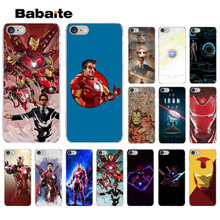 Babaite Marvel Iron Man Modello Molle di TPU Accessori Del Telefono Cassa Del Telefono Delle Cellule per il iphone di Apple 8 7 6 6S più di X XS MAX 5 5S SE XR(China)
