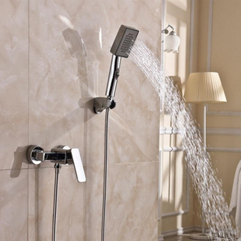 Homedec Bathroom Chrome Wall Mounted Handheld Bath Bathtub Shower Set 1.5m Hose
