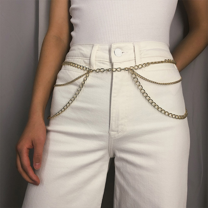 HTB1ZvmidlWD3KVjSZFsq6AqkpXa1 - BLA Luxury Women Chain Belts Waistbands All-match Waist Gold Silver Multilayer Long Tassel Chain Belts For Party Jewelry Dress 3