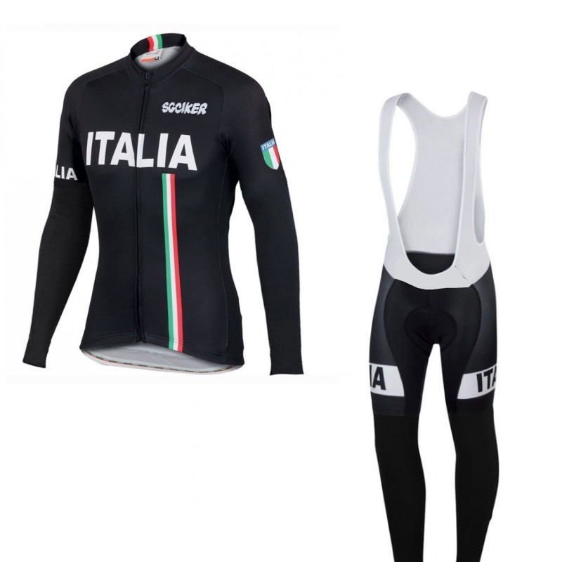 SGCIKER winter thermal fleece pro team Italia cycling jersey warmer long sleeve racing bike clothing MTB Bicycle Ropa Ciclismo 2016 fluor pro team sky cycling long jersey winter thermal fleece long bike clothing mtb ropa ciclismo bicycling maillot culotte