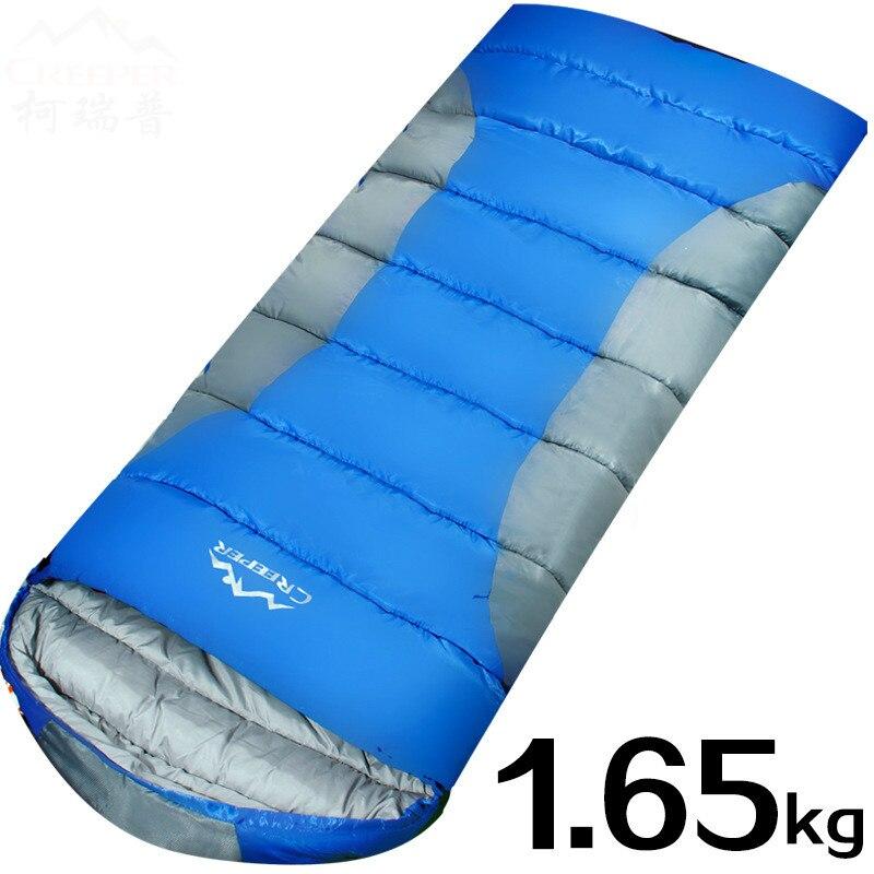 Camping en plein air sac de couchage épais enveloppe sac de couchage sac de couchage coton couture sacs de couchage unique