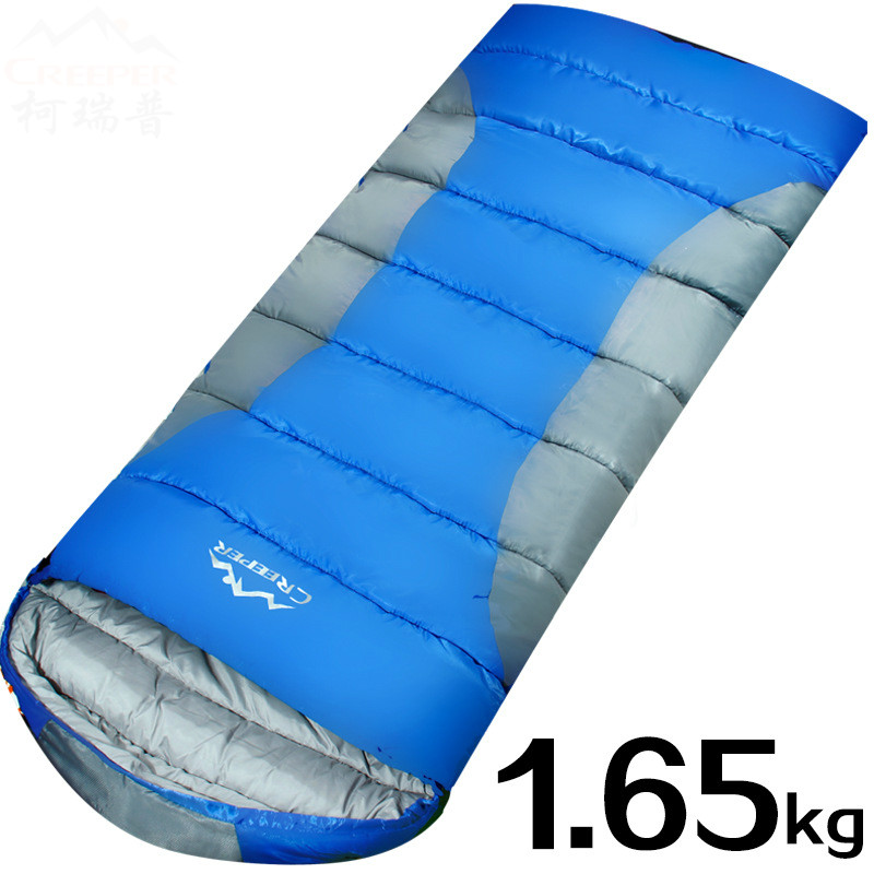 Outdoor camping sleeping bag thick envelope sleeping bag sleeping bag cotton stitching single sleeping bags цена