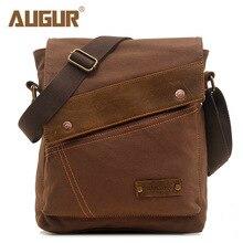 ac4c834a572b AUGUR бренд Лидер продаж мужские сумки-мессенджеры Повседневная парусиновая  сумка через плечо мужские сумки через