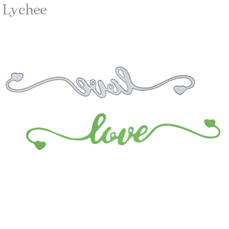 Lychee Lace Love Letters Metal Cutting Dies For DIY Scrapbooking Photo Album Decoretive Embossing Stencil Craft ...
