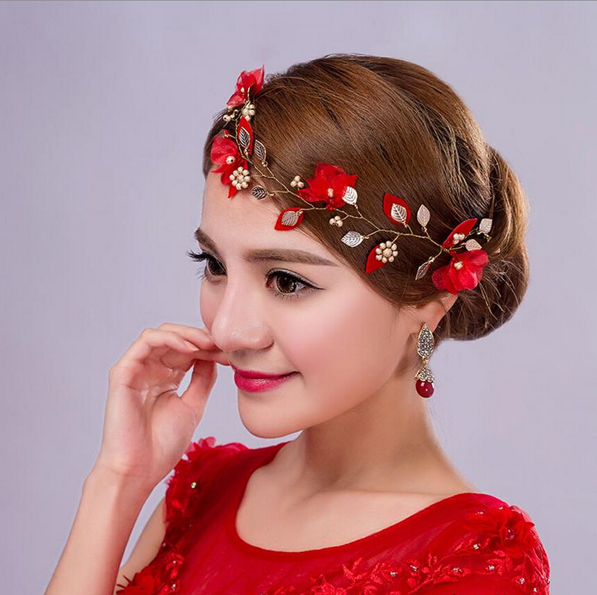Crown Wedding Hair Accessory: Simple New Wedding Bridal Hair Accessories Red Hairbands
