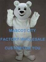 Снежки Маскоты костюм для взрослых Размеры тема животных Белый медведь Маскоты te Маскоты наряд костюм нарядное платье Cosply Костюмы sw1096