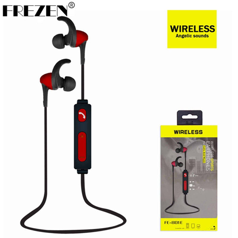 FREZEN FE-801E New Sports Music Bluetooth 4.2 headphone Earphone Many Color Support Android, Ios ,Xiaomi,HUAWEI,Iphone,Samsung dhl free ship new professional sports music mask headphone bluetooth 4 0 with microphone for android ios phones support calls