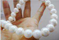 Очаровательное 18 12 мм Белое жемчужное ожерелье AAAA