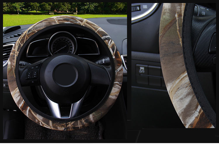 Chic Leopard Print Fluffy Plush Steering Wheel Cover Soft Furry Winter Warm Vehicle Car Steering Wheel Protector Stretch On Universal Fit 37-39cm