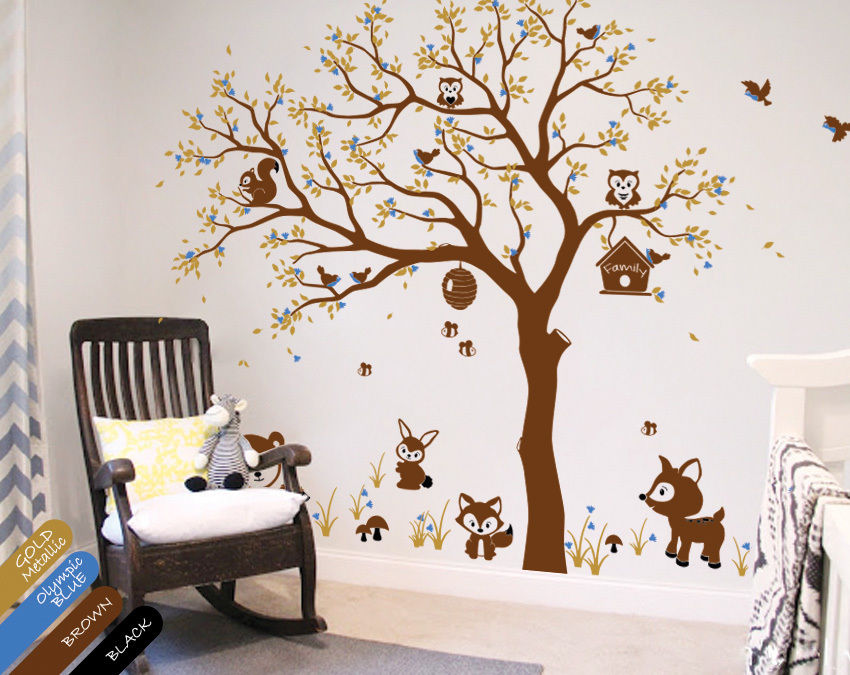 Tree Wall Decals Unisex Animal Stickers Wall Decals Wall Tattoos Baby  200cmX200cm In Wall Stickers From Home U0026 Garden On Aliexpress.com | Alibaba  Group