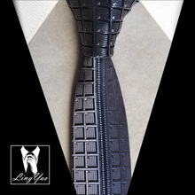 Designers Skinny tie black character novelty gravata high quality woven necktie for gentlemen