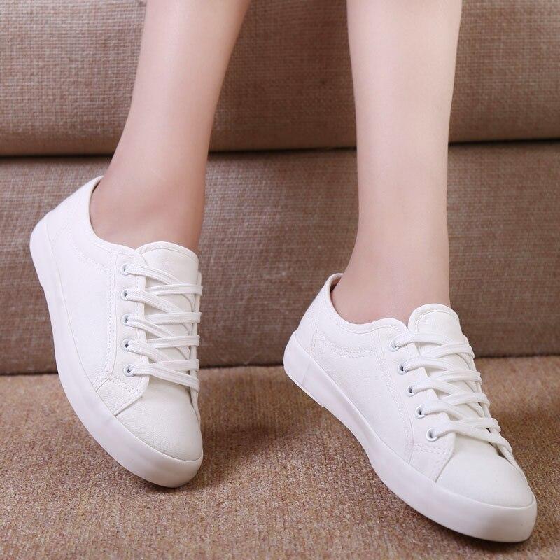 White Lace Canvas Shoes