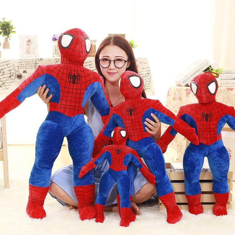 45/55/75/95cm macio recheado super herói aranha-homem filme figura brinquedos de pelúcia spiderman brinquedo de pelúcia boneca presentes de aniversário para crianças