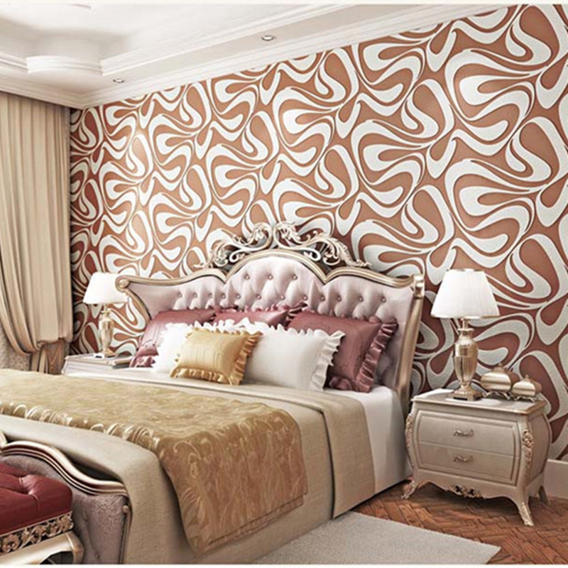 3D Wall Paper Simple Abstract Non-woven Wallpapers For Living Room Bedroom Modern Wallpaper 3D Wall Papers Home Decor Stickers fashion letters and zebra pattern removeable wall stickers for bedroom decor