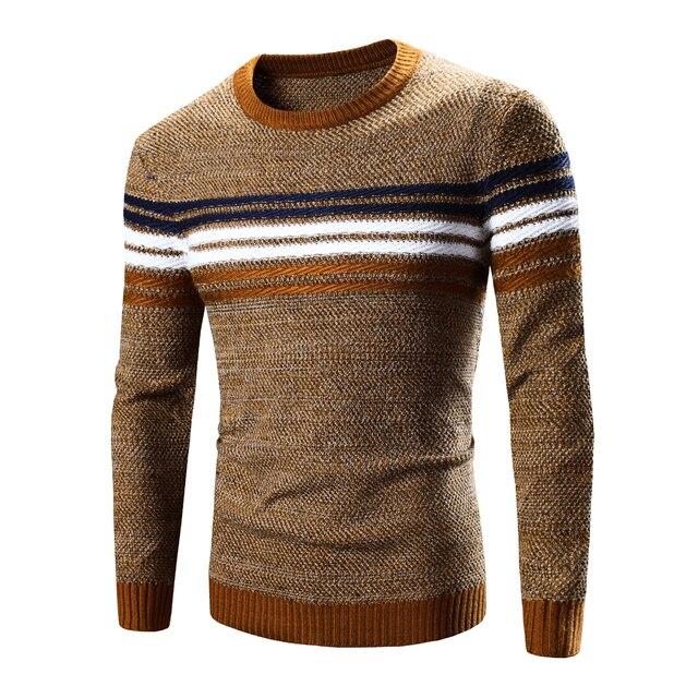 Moda inverno 2016 pullover camisola dos homens da marca de boa qualidade de manga longa blusas de lã homens casuais tamanho 2xl