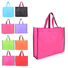 1PC Reusable Cloth Fabric Grocery Packing Wholesale Eco Shopping Bag Recyclable Hight Design Healthy Tote Handbag(China)
