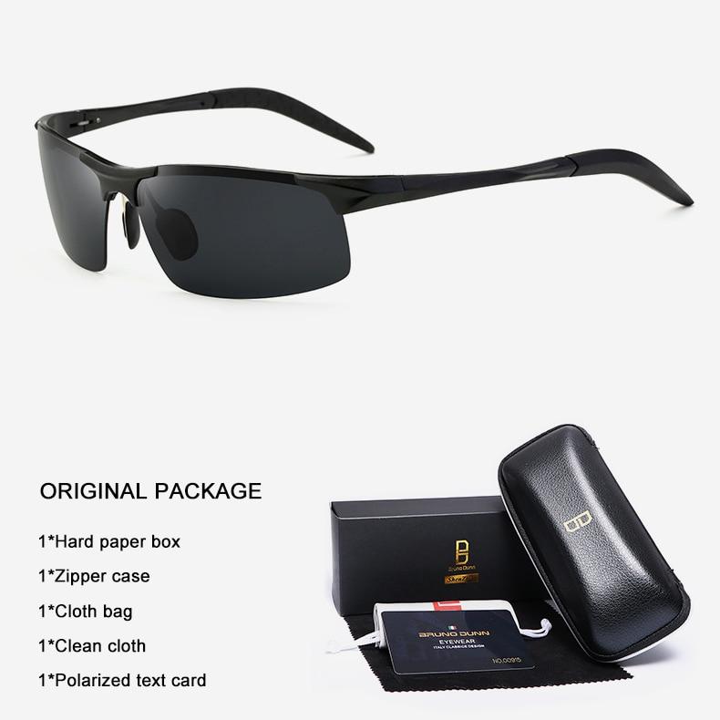 Bruno Dunn Driving polarized Men sunglasses 2020 sports High Quality UV400 Aluminum sun glasses for male oculos de sol masculino 5