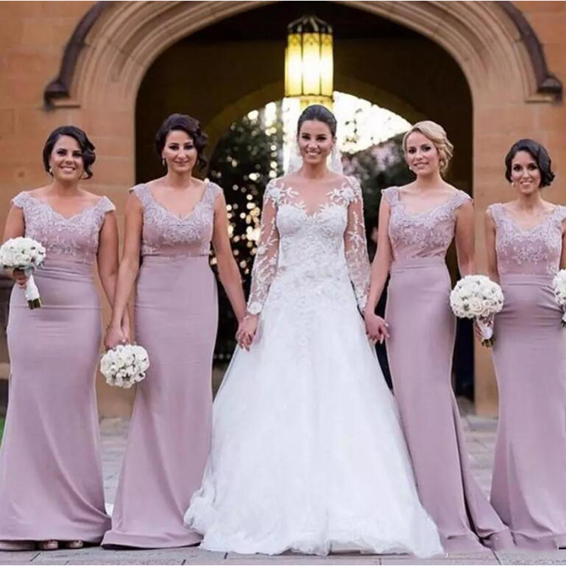 2018 Sexy Mermaid Bridesmaid Dresses Glamorous Appliques African Bridal Prom Dress Party Gowns Custom Made Maid Of Honor Dress