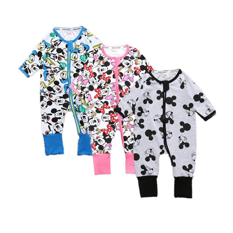 2017 High Quality Baby Cartoon Printed Long Sleeve Romper Brand Boys Girls Newborn Cotton Jumpsuit Cute Bebe Toddler Clothing newborn baby rompers baby clothing 100% cotton infant jumpsuit ropa bebe long sleeve girl boys rompers costumes baby romper