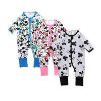 2017 High Quality Baby Cartoon Printed Long Sleeve Romper Brand Boys Girls Newborn Cotton Jumpsuit Cute Bebe Toddler Clothing