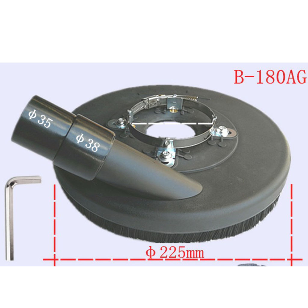 5 Pcs 7' Dust Extractor Surface Vacuum Dust Shroud Grinding Dust Cover Fits Angle Hand Grinders 7'