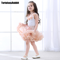 Lovely Multi Color Flower Pettiskirts Tutu Dress For Baby And Girls Party Dance Tutu Sunny Dress