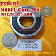 ZOKOL 6304RS подшипник 6304 2RS RS 6304-2RSN глубокий шаровой подшипник 20*52*15 мм