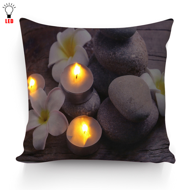 Flower Patterned LED Luminous Pillowcase