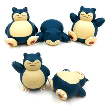 3cm 5PCS Lot Cute Kawaii Japanese anime figure Snorlax action figure collectible model font b toys