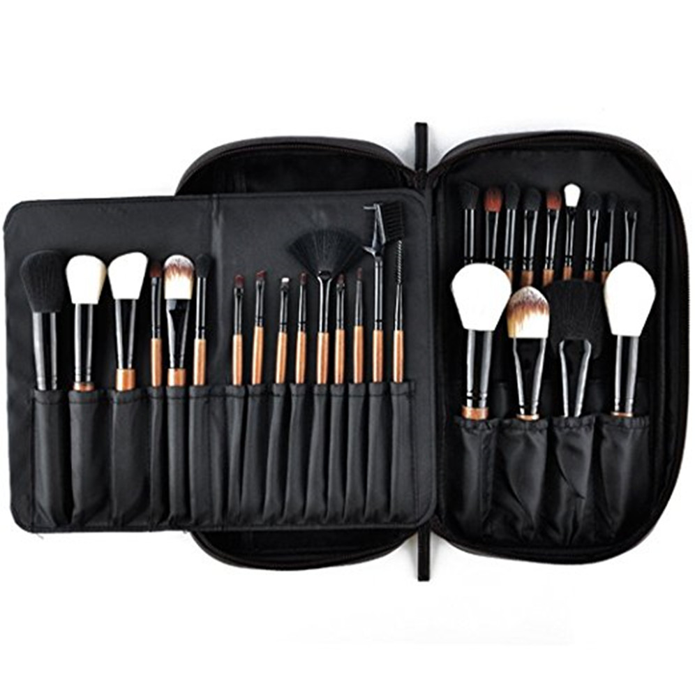 Makeup Brushes 28pcs Professional Beauty Brushes Sets with Luxury Makeup Bag (Foundation, Powder, Eyeshadow, Blush, Blending цена