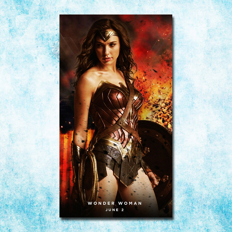 Wonder Woman DC 2017 Movie New Gal Gadot Art Silk Canvas Poster 13x24 20x36 Inch Picture For Room Decor (more) -15