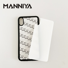 MANNIYA 2D Sublimation tempered glass rubber phone Case for iphone 11/11 pro/ 11 pro max/X/XS/XR/XS MAX 10pcs/lot