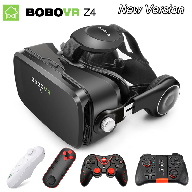 Virtual Reality goggle 3D VR Glasses Original BOBOVR Z4/ bobo vr Z4 Mini google cardboard VR Box 2.0 For 4.0-6.0 inch smartphone original bobovr z4 leather 3d cardboard helmet virtual reality vr glasses headset stereo box bobo vr for 4 6 mobile phone