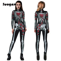 Gothic Skull Rose Printed Jumpsuits Skull Costume For Halloween Cosplay Casual Women One Piece Outfits Jumpsuits