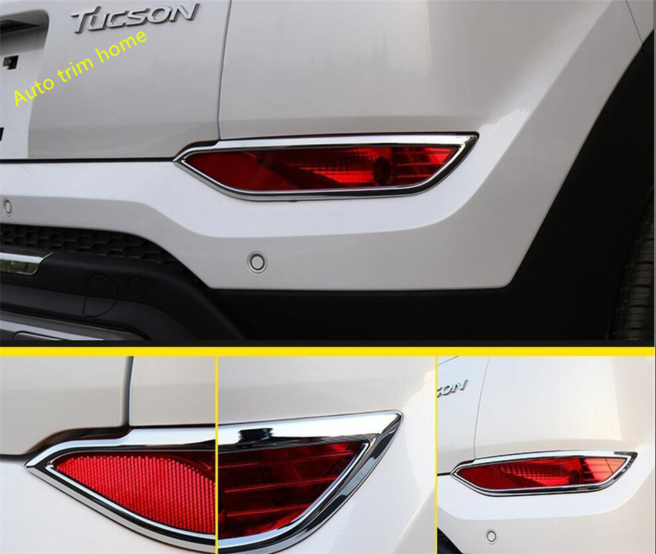 Aliexpress Com Buy Lapetus Accessories Fit For Hyundai: Lapetus Chrome Rear Bumper Tail Fog Lights Lamp Cover Trim