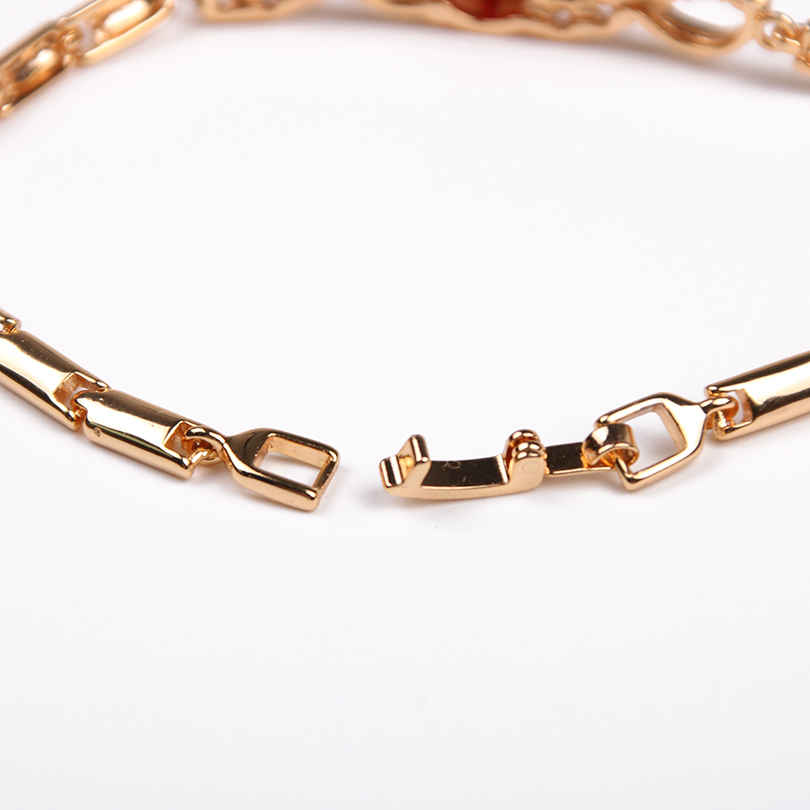 Round Cubic Zirconia Chain Link Bracelet New Fashion Fold Over Clasp Bracelets Accessories For Women In From Jewelry On