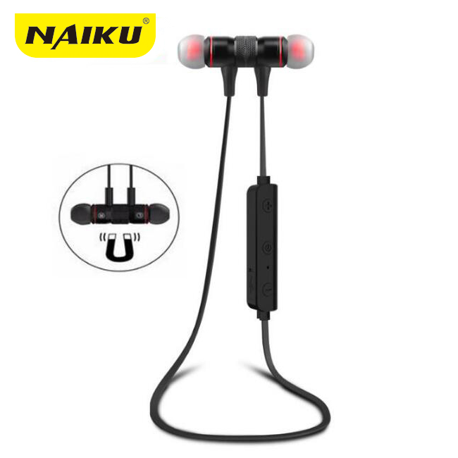 NAIKU M9 Bluetooth Headphones Wireless In-Ear Noise Reduction earphone with Microphone Sweatproof Stereo Bluetooth Headset