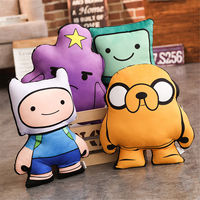 1PC 40cm New Adventure Time Stuffed Plush Toys Finn Jake Beemo BMO Soft Dolls Party Supplies Kids Birthday Gift Brinquedos MD28