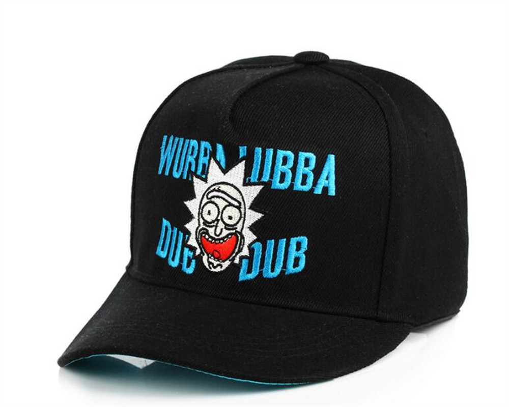 773d4e6997d Wubba lubba dub dub Snapback Rick and Morty Classic Sayings Baseball Caps  Rick Molding Exquisite Embroidery Hip Hop Hat Hot sell-in Baseball Caps  from ...