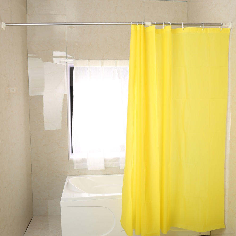 Telescopic L-shaped Shower Curtain Rod L Shaped Shower Curtain Rod Suction Cups Corner Bathroom Curtain