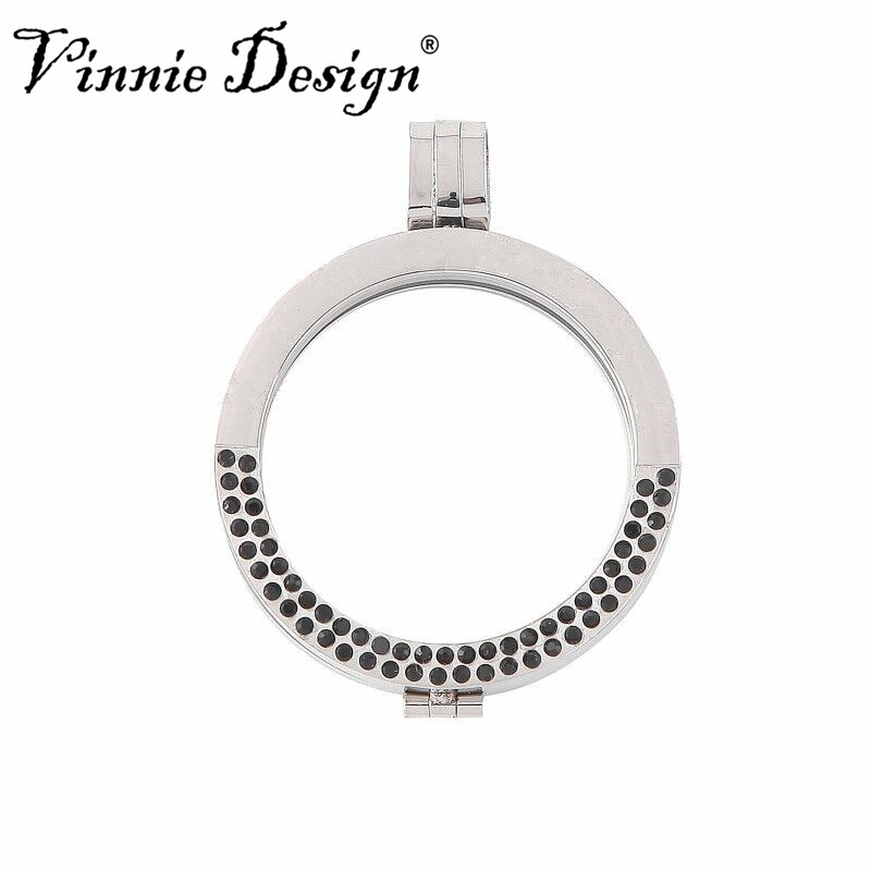 Vinnie design jewelry 35mm stainless steel coin holder pendant vinnie design jewelry 35mm stainless steel coin holder pendant with black crystals the black friday deals 2018 aloadofball Images