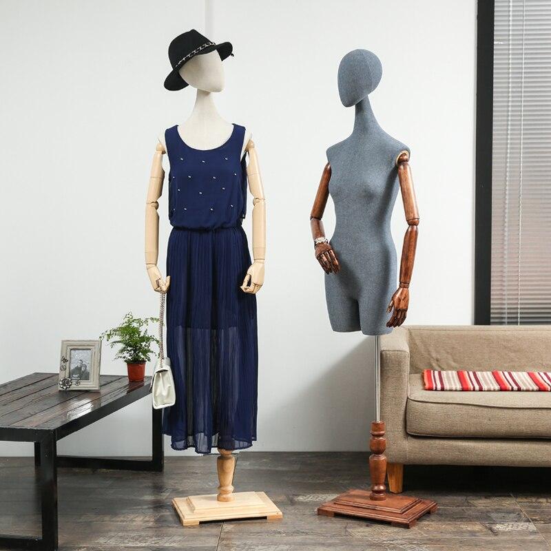 Одежда Манекены женские манекен полутело тканевый ремень женские манекен для свадебного платья Женская ткань манекен