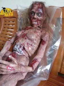 Image 1 - Gran oferta 2017 decoración de terror Halloween espeluznante fantasma zombi sangriento aterrador cuerpo completo Zombie Escape para casa embrujada Bar Props