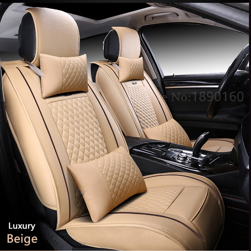 ( Front + Rear ) Special Leather car seat cover For Ford mondeo Focus Fiesta Edge Explorer Taurus S-MAX auto accessories styling